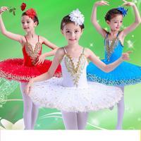 white Tutu Ballet Dress Girls' Professional Swan Lake Ballerina Dress Skirt Dancewear for woman 4colors