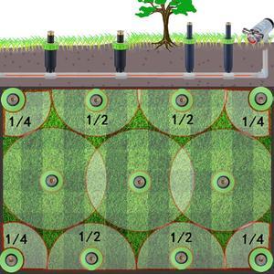 Image 3 - 90 360 학위 4 개/몫 정원 잔디 스프링 쿨러 자동 개폐식 스프레이 관개 시스템 구리 노즐 # gw00106