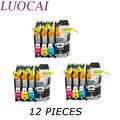 Картриджи LuoCai для принтеров brother MFC- J2310  J2510  J3520  J3720  12 шт.  LC567  LC565  LC567XLBK  LC565XL