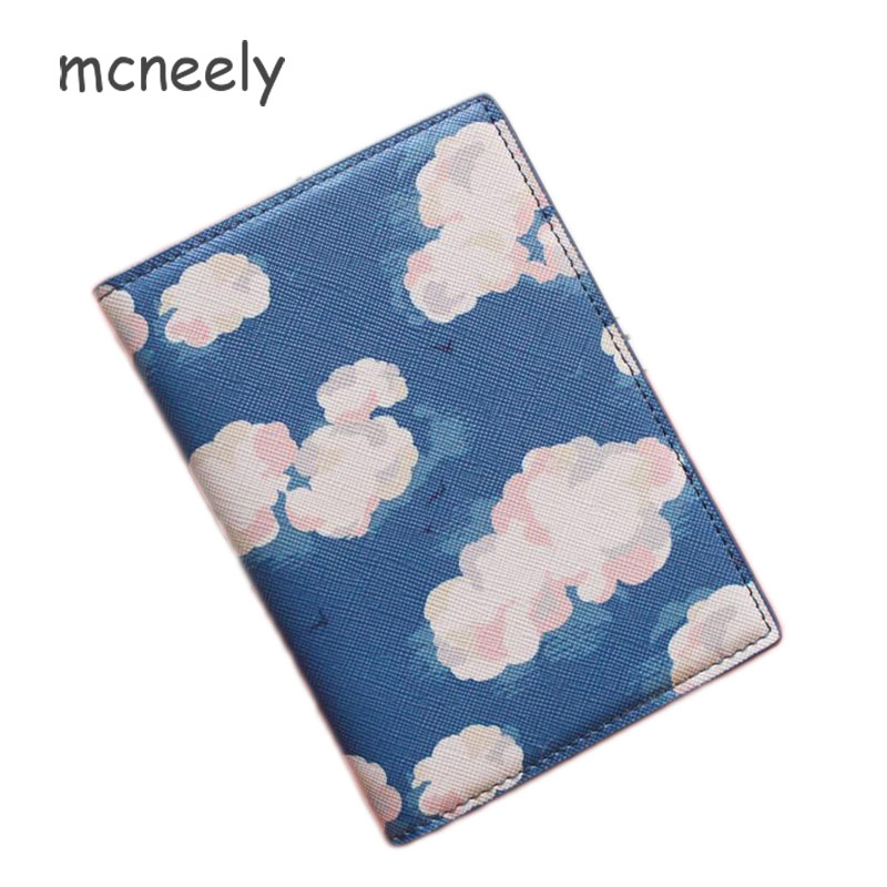 Passport Cover Blue And White Porcelain Stylish Pu Leather Travel Accessories Passport Cover With Card Holder For Women Men