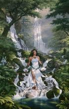 Góra wiosna wodospad płynąca woda góra las piękno robótki, DIY DMC krzyż zestaw do szycia, 14CT wzór liczony wystrój