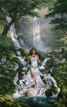 Mountain spring Waterfall Flowing water Mountain Forest beauty Needlework,DIY Cross stitch kits,14CT Pattern Counted Decor
