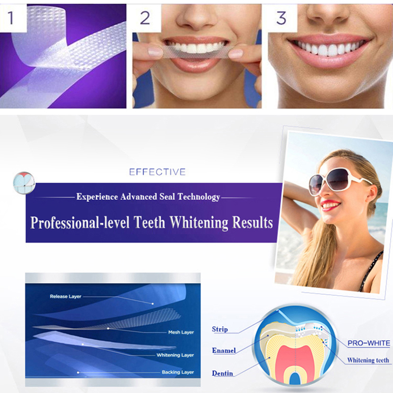 3D White Teeth Whitening Strips Professional Effects White Tooth Soft Bristle Charcoal Toothbrush Dental Whitening Whitestrips 4