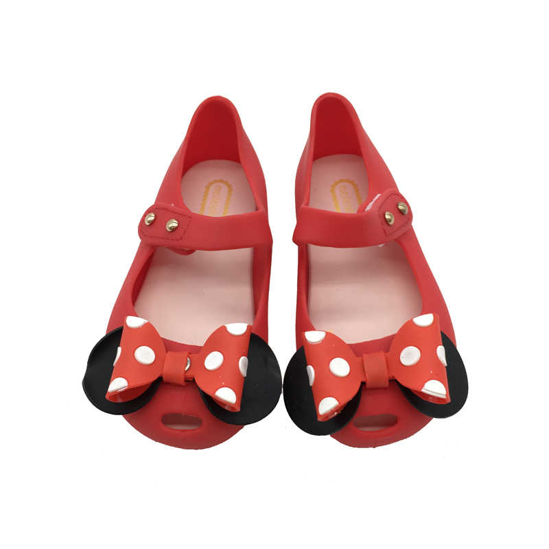 a0b0a312079284 Mini Melissa Jelly Girls Sandals Cute Bow Mickey Minnie Girls Jelly Sandals  2018 New Melissa Baby