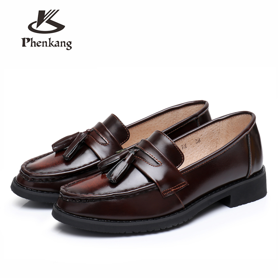 Genuine cow leather brogues sneakers designer vintage ladies flats shoes handmade oxford shoes for women 2018
