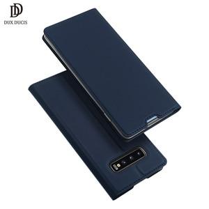 Image 1 - DUX DUCIS deri Flip Case Samsung Galaxy S10 Coque cüzdan kılıf kapak Samsung Galaxy S10 artı e r e r e r e r e r e r e r e r e r e r 10 s10e S10 5G Funda
