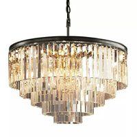 Блеск светодиодный кольцо Винтаж Лофт Стекло K9 с украшением в виде кристаллов хрустальная люстра огни для Спальня Гостиная Кухня