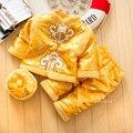 100% Algodón Ropa de Año Nuevo Traje para 1-3 Años de Bebé Infantil chicos de Manga Larga Trajes + Tapa Tradicional Chino Tang ropa