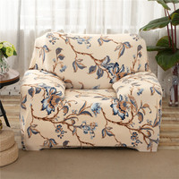 SunnyRain Polyester Floral Sofa Cover Elastic L Shaped Sofa Cover Slipcover For Sectional Sofa Three Seat