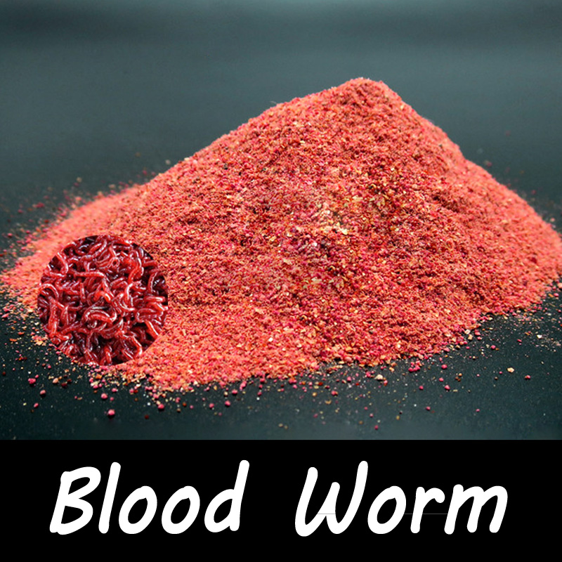 1 Bag 40g Blood Worm Flavor Additive Carp Fishing Feeder Bait Boillie Making Material temptations mixups surfers delight flavor treats for cats pouch mega bag
