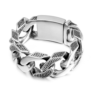 Image 5 - 31MM Wide Heavy Metal Bracelet Men Male Casting Solid Stainless Steel Chain Link Mens Bracelets Massive Biker Rocker Jewelry Man
