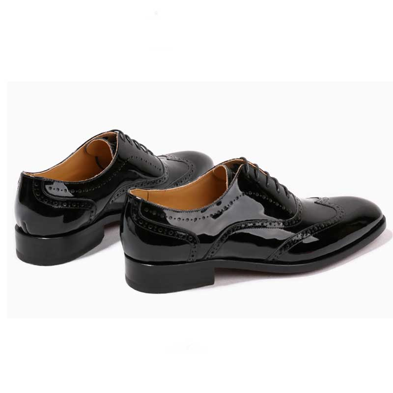 Big Sale GRIMENTIN goodyear customized mens dress shoes patent leather pure handmade luxury black men wedding shoes May 2020