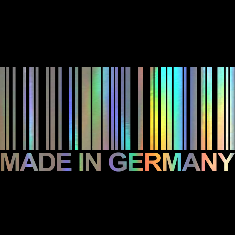 Автомобильная виниловая наклейка 15,6 см * 6,8 см, сделано в Германии, модные стикеры со штрих-кодом, 3D наклейка для стайлинга автомобиля, мотоци...