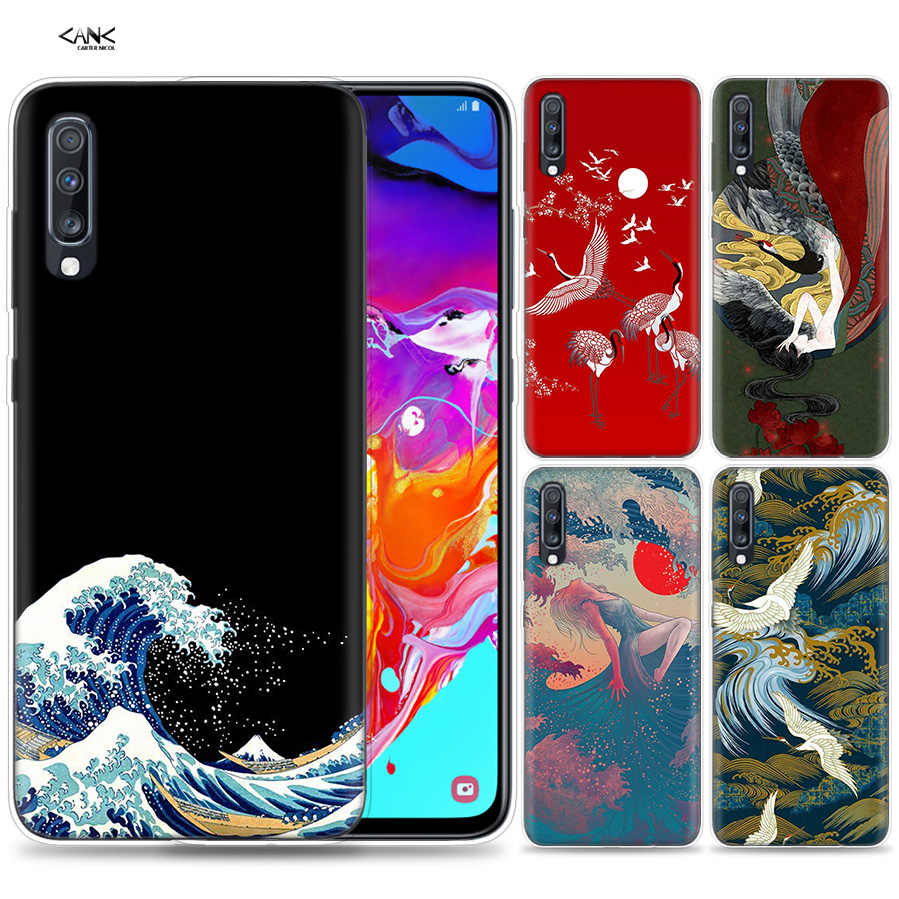 Bags Case for Samsung Galaxy Mobile Phone A50 A70 A30 A20 J4 J6 J8 A6 A8 M30 A7 Plus 2018 Note 8 9 Japanese style Art Japan Coqu