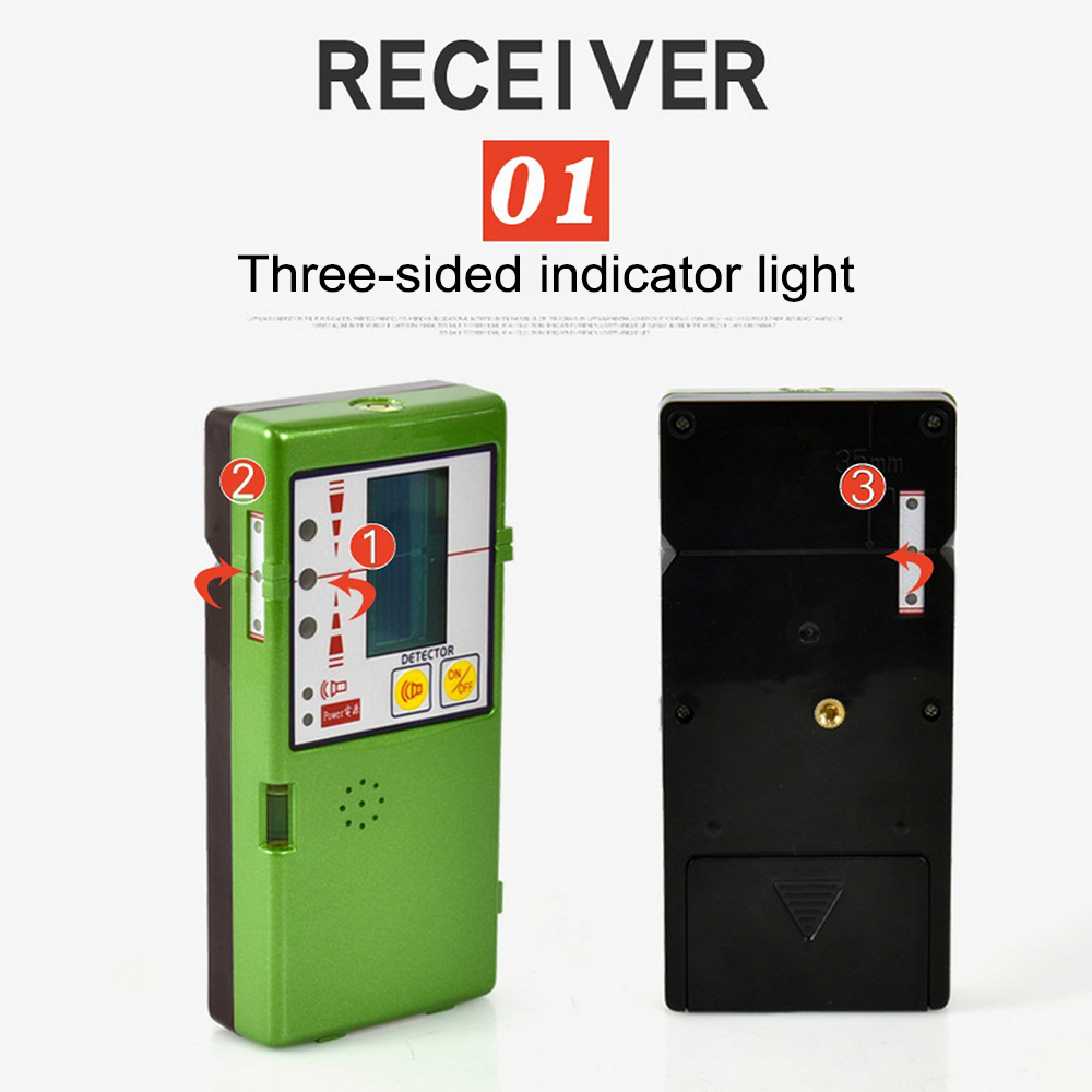Level Detector Receiver For 12 Line 3D Red Green Line Vertical with Clamp FD-6G/FD-9G Outdoors Can Receive 50 MetersLevel Detector Receiver For 12 Line 3D Red Green Line Vertical with Clamp FD-6G/FD-9G Outdoors Can Receive 50 Meters