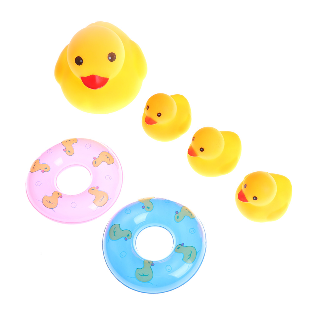 Baby Duck With Ring Soft Wonderful Floating Bath Toys For Kids Set Of 6 Pcs We Have Won Praise From Customers Baby Bathtime Toys