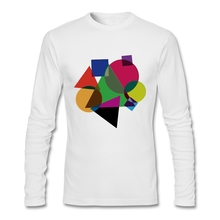 Cheap Sale Back to Basics Long Sleeve Men's T-Shirt Screw Neck Cotton T Shirts Top for Men's