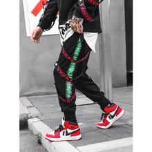UNCLEDONJM Multi-ribbons ankle banded pants sweatpants jogger casual harem pants streetwear men pants popping pants jogger 062W цена