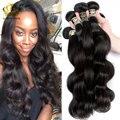 8A Onda Del Cuerpo Indio Virginal Ángel Gracia Hair 3 Bundles Soft indio Extensión Del Pelo Humano Ondulado Glam Queens Productos para el Cabello Pelo de la Estrella