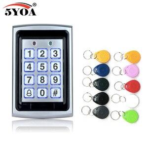 Image 4 - Teclado de Control de acceso Rfid de Metal a prueba de agua con 1000 usuarios lector de tarjetas de 125KHz teclado clave Fobs Sistema de Control de Acceso de puerta