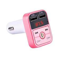 Двойной USB Bluetooth4.1 Handsfree Car Kit Зарядное устройство FM передатчик MP3 плеер A2B2 светодиодный дисплей Mar 7