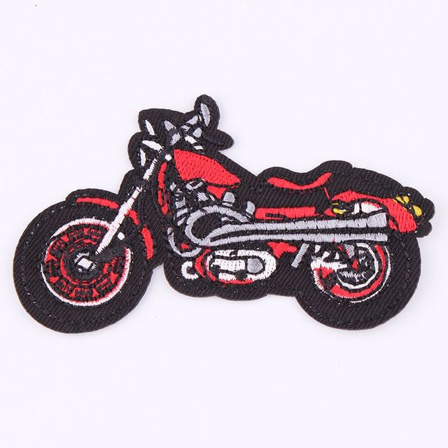 Motorcycle Embroidered Iron On Patch