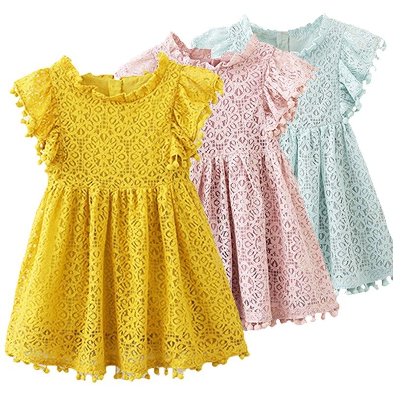 e728c934287f 2019 verano bebé niñas vestido de fiesta para 3-7 años niños princesa vestidos  niño niña cumpleaños vestido de encaje es Ropa traje