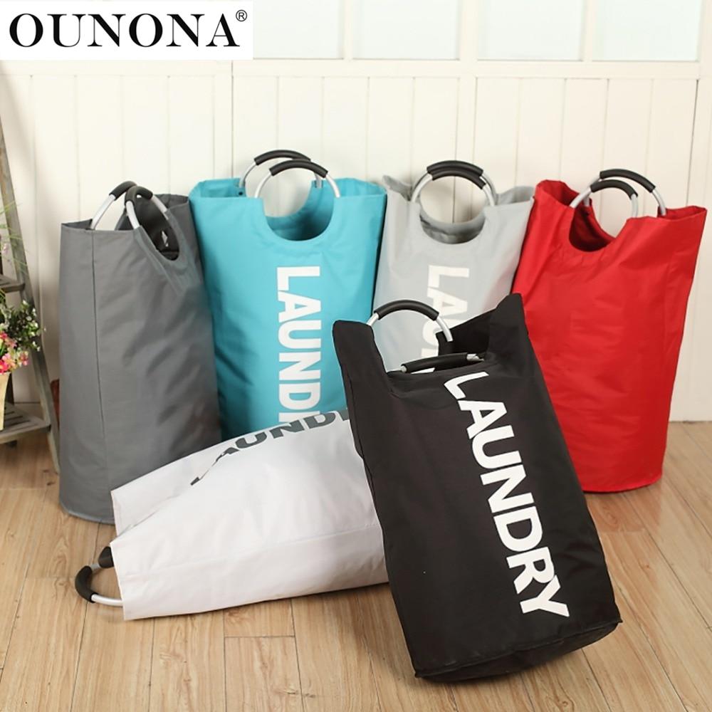 Laundry Basket Hamper Clothes Bag Folding Dustproof Washing Bin Organizer Washing Bag Portable Clothing Storage Bag