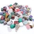 Comercio al por mayor 100 unids/lote Venta Caliente Punto mixta encantos de la forma Irregular de piedra Natural de Cuarzo Rosa colgantes de jade ágata colgantes de la joyería