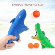 Kids Toys Cartoon Shark Dolphin Catapult Catching Launcher Pinball Machine Parent-Child Interaction Toy Blue Shark an assessment on tuna dolphin interaction
