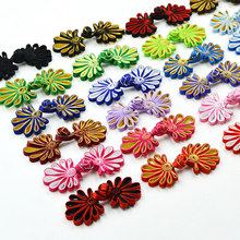1 pair Full disk buttons manual chrysanthemum monopoly cheongsam Tang suit jacket folk style wedding invitations clothes 3.5*8cm(China)