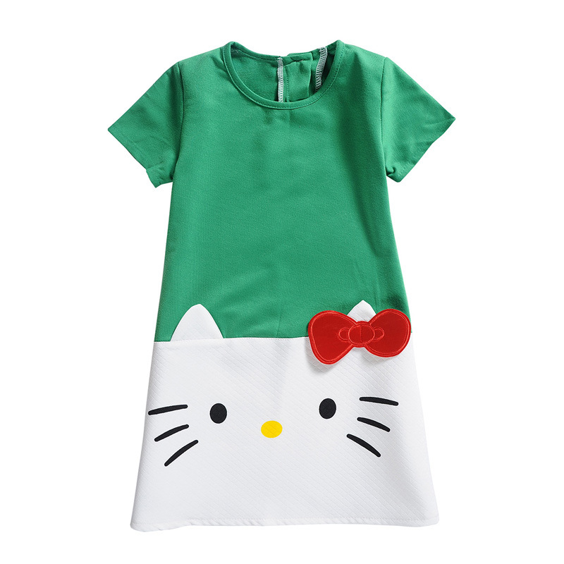 ce5a8c0c8d45 6 Color Hello Kitty Dresses for Girls Clothes Baby Girls Dress ...