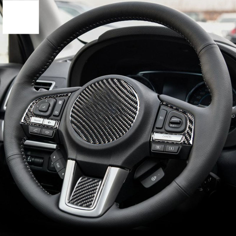 lsrtw2017 carbon fiber car steering wheel trims for subaru forester 2013 2014 2015 2016 2017 2018 in Interior Mouldings from Automobiles Motorcycles