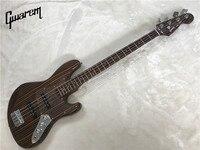 Электрический Гитары/gwarem JA ZZ бас гитара/зебрано тело и шеи/бас гитара в Китае