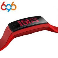 696 V10 Smart Wristband Fitness Tracker Heart Rate Monitor Smart Band Acitivity Tracker Blood Pressure Color
