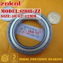 ZOKOL 6908 Z подшипник 6908 ZZ 6908-2RS 6908RS глубокий шаровой подшипник 40*62*12 мм