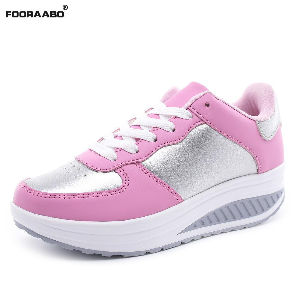 Coins black Rose black Été Gray White Red Chaussures royal forme black Dames Plate 2018 Sneakers Cuir Tenis En Plein Coréen dark Blue Red Blanc Blue khaki lake Femmes Blue Pink black white Casual Feminino 2 Air Noir 1 silver Oqd1ARw