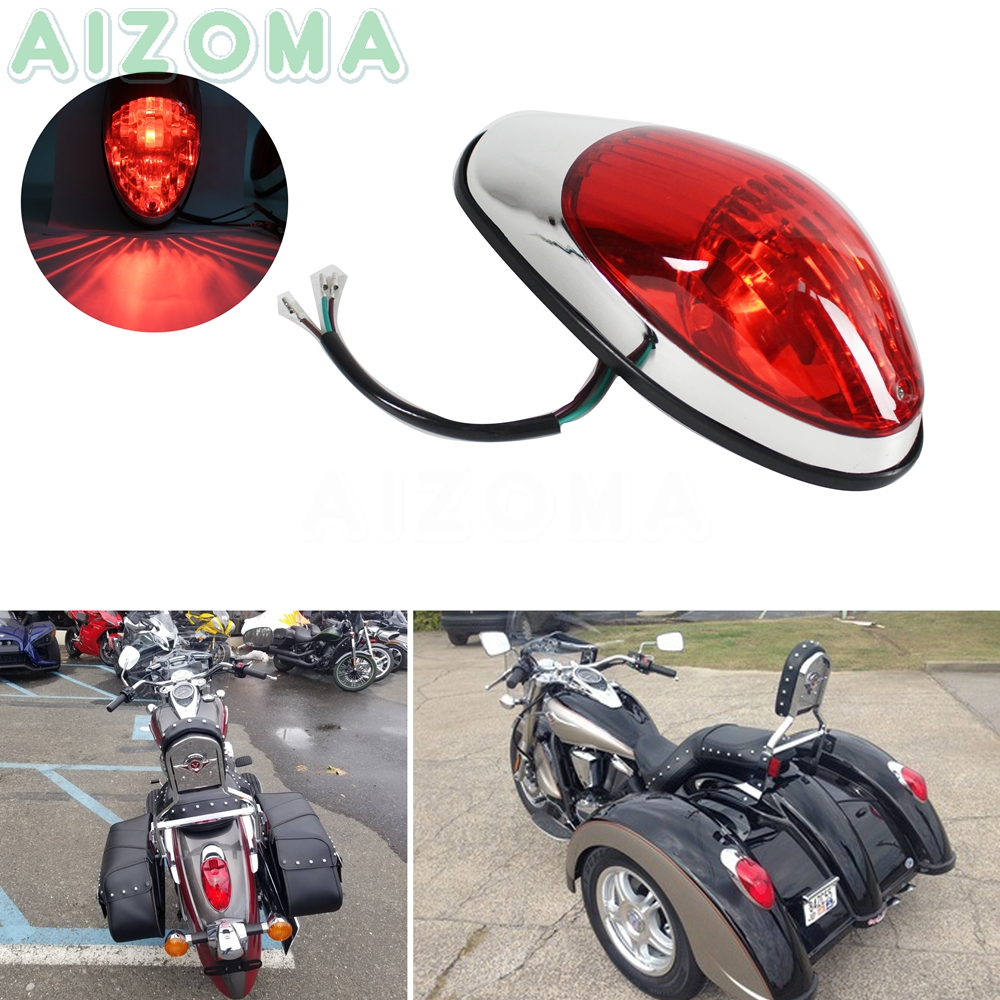Motorcycle 12v Taillight Filaments Brake Stop Light Universal For Kawasaki Vulcan 900 Suzuki Yamaha V-Star Honda VTX 1300 1800