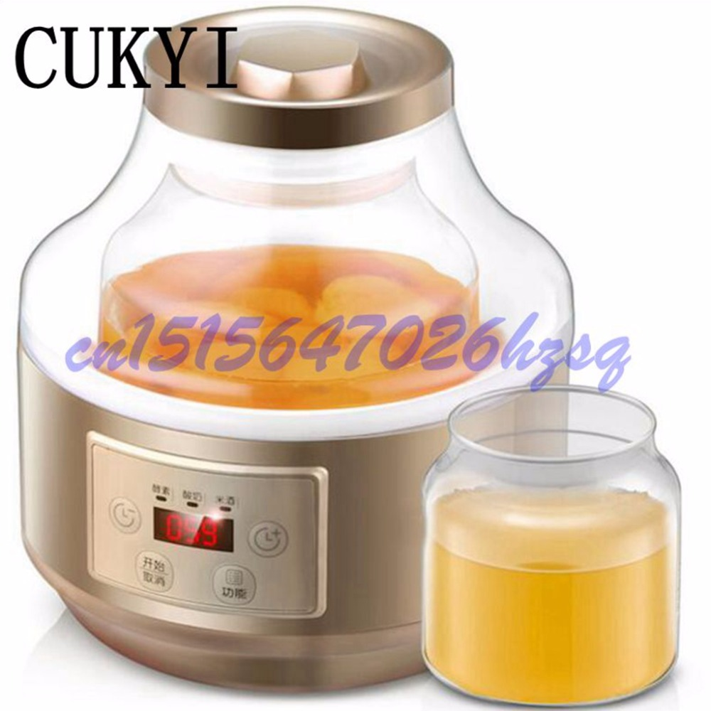 CUKYI Full automatic household multi-purpose enzyme machine for the use of yogurt machine the rice wine machine enzyme bucket cellulase enzyme production from trichoderma reesei