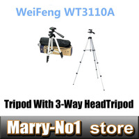 WEIFENG WT3110A Tripod With 3 Way HeadTripod For Nikon D7000 D80 D90 D3100 DSLR Sony NEX