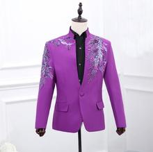 Chorus mariage groom wedding suits for men blazer boys prom suits fashion slim sequins latest coat pant designs stand collar tian qiong mens black wool suits latest coat pant designs chinese style stand collar slim fit groom wedding suit formal wear