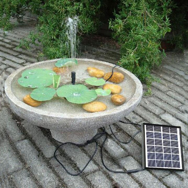 5V/1.5W 175L/H Brushless DC Solar Power Fountain Water Pump Spray Panel