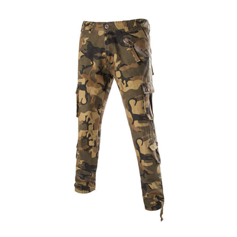 Hight Quality Military Mens Camo Pants Skinny Army Tactical Mens Cargo Pants Khaki Slacks Camouflage Sweatpants Trousers