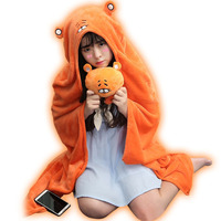 Himouto Umaru Chan Doma Umaru Orange Cloak Scarf Cosplay Costume