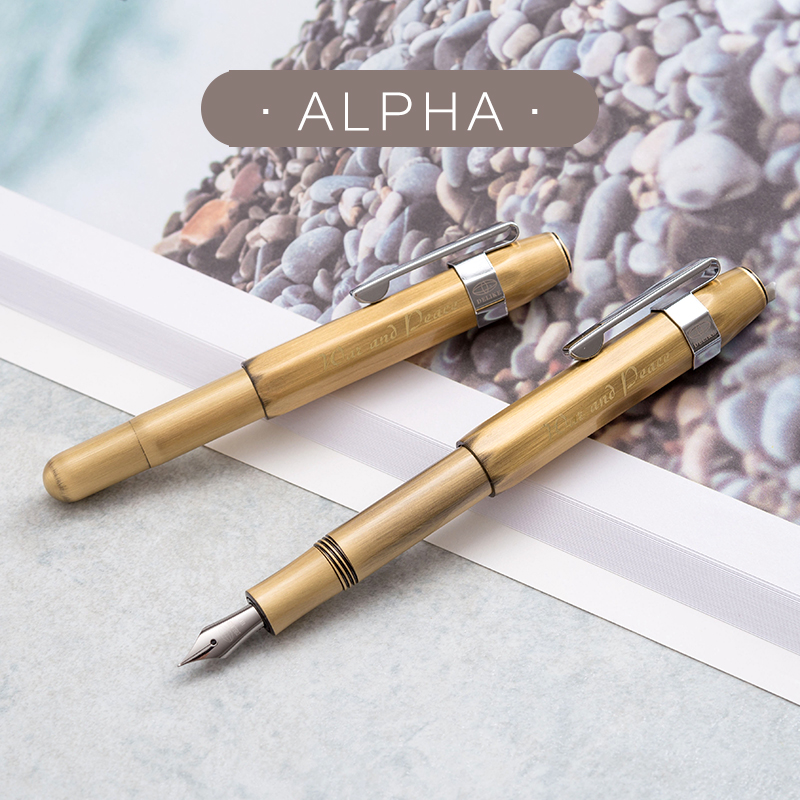 Fountain Pen Full Copper Retro Travel Short Fountain Pens High-End Office Business Writing Pen Gift Box 0.5mm & 0.38mm Gift Pen picasso pimio 960 unique design luxury fountain pen high end full metal writing ink pens fine point business gift stationery