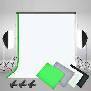 Image 4 - ZUOCHEN Photo Studio LED Light Softbox Lighting Kit 4 Backdrops For Photography Shooting Facebook Live