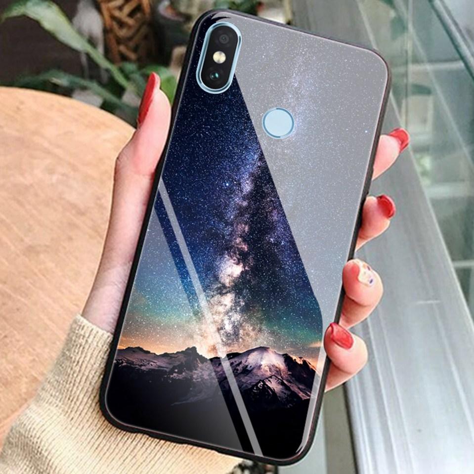 Tempered Glass Case For Xiaomi Redmi 6A Note 5 6 Pro Global 5 Plus 4X Cover Pattern Xiomi Phone Case for Xiaomi Mi A2 Lite A1 5X (16)