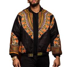 DARSJUCBD 2018 Indie Folk Mens Jacket Coat Dashiki African Printed Bomber Jacket Outerwear Coats