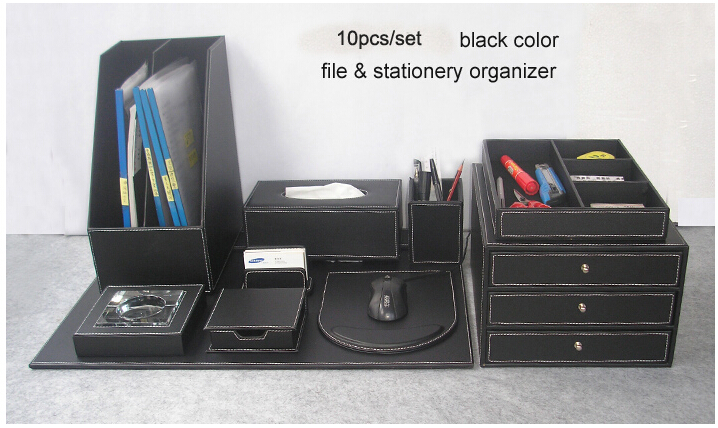 Compare prices on writing desk pens online shopping buy - Leather desk organizer set ...