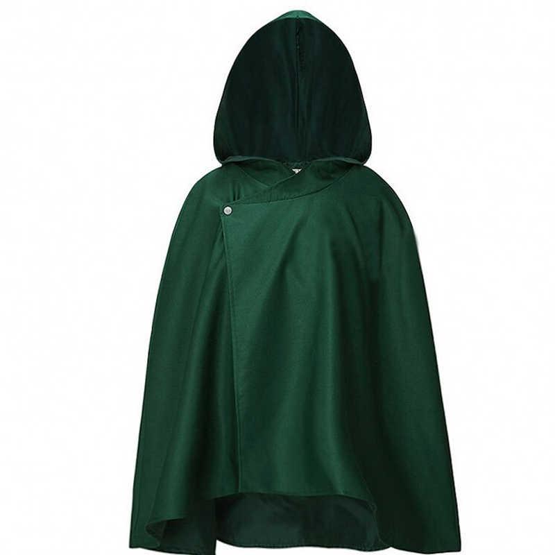 Аниме-Толстовка Атака Титанов плащ Shingeki no Kyojin Легион Косплей Аниме костюмы Хэллоуин для женщин зеленый плащ Мужская одежда